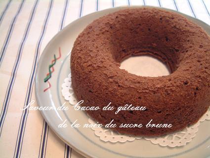 黒糖とココアで胡桃のケーキ_d0098954_20483192.jpg