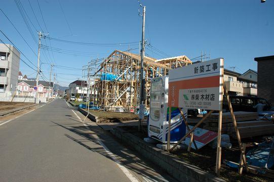 モデルハウスの進捗状況!_a0059217_1818541.jpg