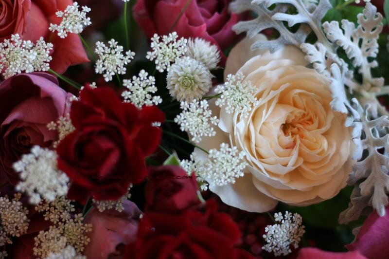 マダムトキ様の装花 千日紅の白_a0042928_859022.jpg