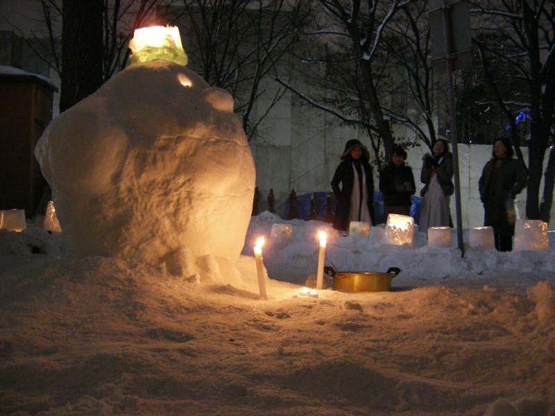 はすかっぷちゃん雪だるまとスノーランタン_c0025115_0112173.jpg