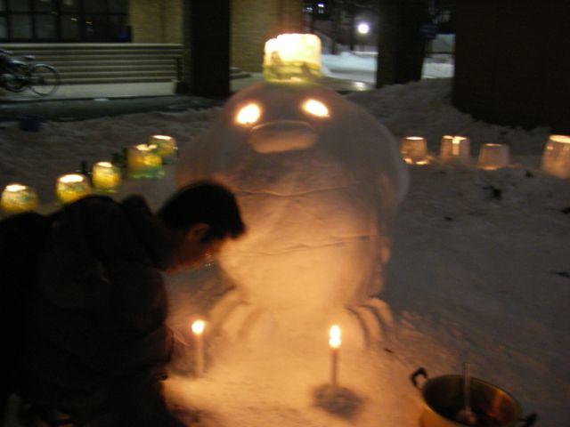 はすかっぷちゃん雪だるまとスノーランタン_c0025115_0132933.jpg