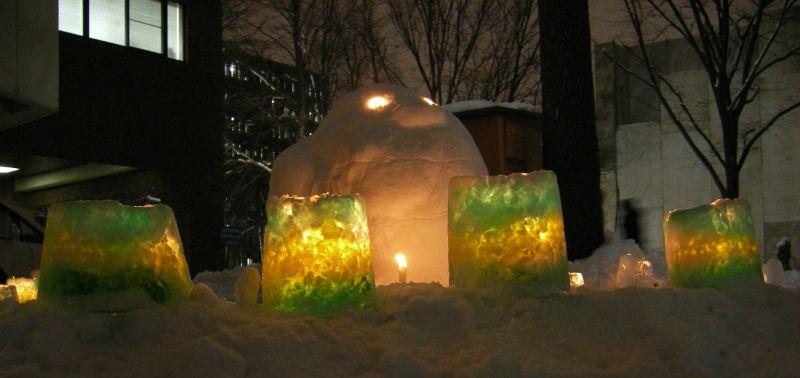 はすかっぷちゃん雪だるまとスノーランタン_c0025115_055566.jpg