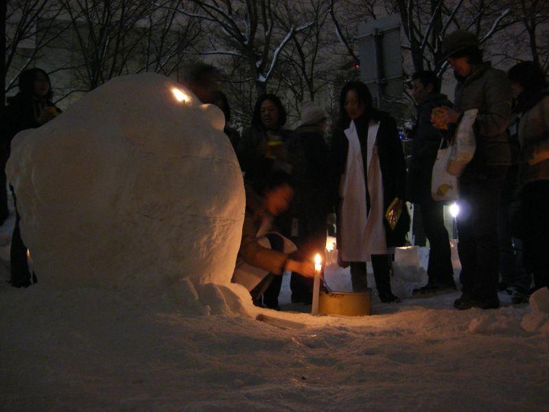 はすかっぷちゃん雪だるまとスノーランタン_c0025115_094377.jpg