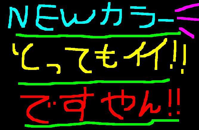 今年の新色!イメージ変わって良いですやん!_f0056935_2049404.jpg