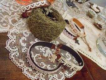 雑貨教室vol.8「紅茶染めのレースと革でブレスレットを作る。」_e0073946_20153883.jpg