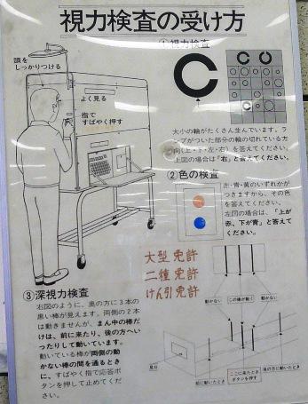 深視力検査 運転免許センターにて : 高田馬場 丸八 ブログ