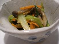 ♪青菜のコチュジャン和え♪_e0087805_14522317.jpg
