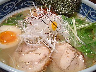 鶏白湯@自作らーめん (醤油&塩)_f0080612_20263624.jpg