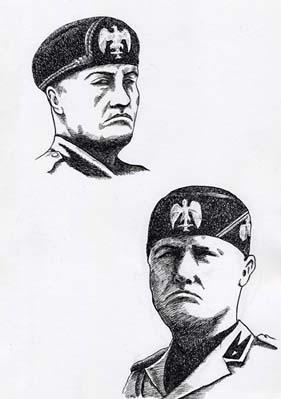 ペンによるドローイング「男性の肖像」_a0093332_19181881.jpg