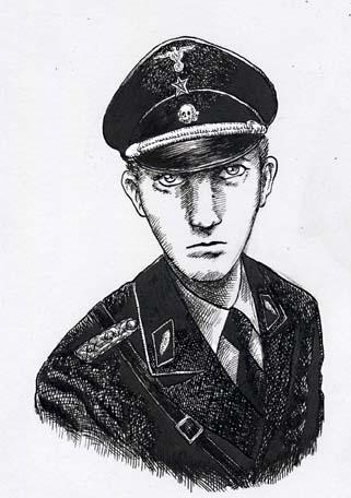 ペンによるドローイング「男性の肖像」_a0093332_19183941.jpg