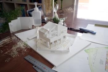 """""""海を望むリビング"""" 2階リビングの住宅模型完成♪_d0082356_1550991.jpg"""