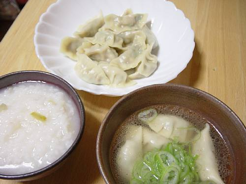 麺ではないが、粉モンということで「水餃子」_c0092877_22173638.jpg