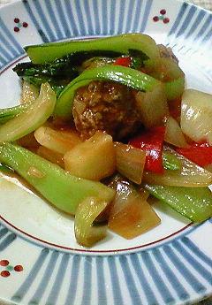 肉団子と野菜のケッチャップ味♪_f0116812_1935850.jpg