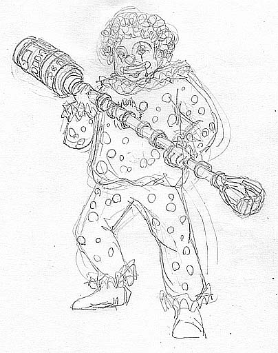 怪人ピエロの巻き笛でGの鼻がボロボロ?というか他もボロボロ。_c0040422_22351327.jpg