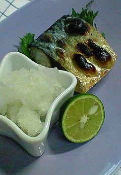 鯖の塩焼き♪_f0116812_18235348.jpg