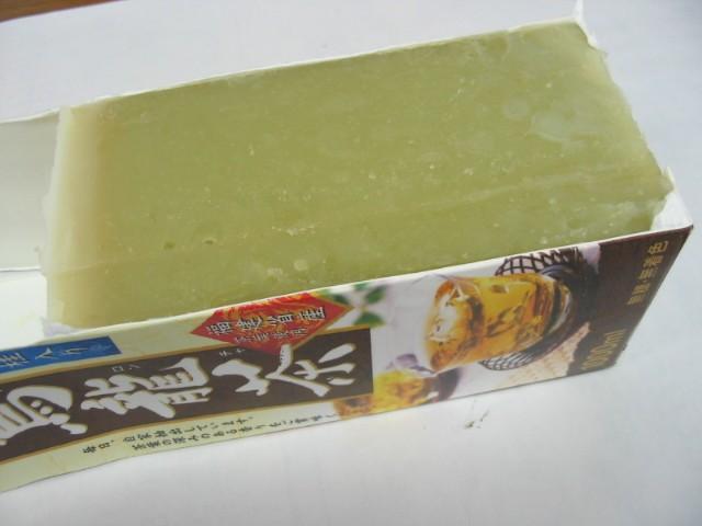 ココナッツミルク石けん 切り分け_a0091095_16444294.jpg