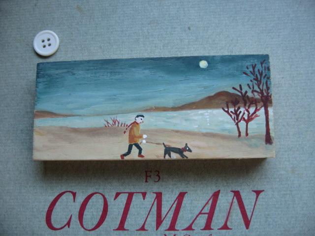 かまぼこ板アート~犬と散歩するの図_d0101846_9131054.jpg