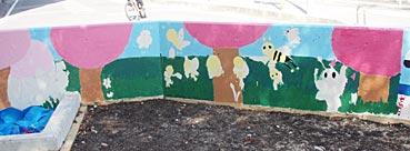 小学校ゲストティーチャー/ブロック塀に絵を描く_f0043592_2021045.jpg