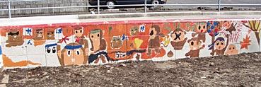 小学校ゲストティーチャー/ブロック塀に絵を描く_f0043592_20215053.jpg