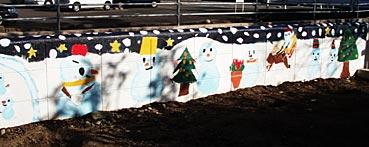 小学校ゲストティーチャー/ブロック塀に絵を描く_f0043592_2025726.jpg