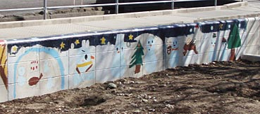 小学校ゲストティーチャー/ブロック塀に絵を描く_f0043592_20463661.jpg
