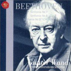 Ludwig Van Beethoven 交響曲第7,8,9番 / Gunter Want 指揮 北ドイツ放送交響楽団_d0102724_1791559.jpg