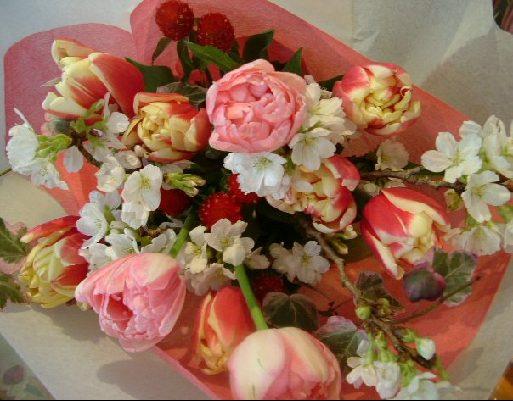 オークリーフ(キャンディーカラーの花束)_f0049672_15313318.jpg