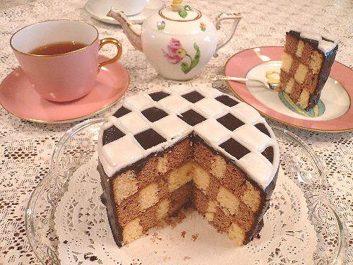 DEAN&DELUCA(ディーンアンドデルーカ)のチェッカーケーキ♪☆..。.゚。*・。♡ _a0053662_15415075.jpg