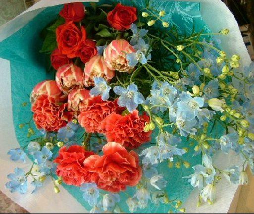 オークリーフ(草模様の青い和紙)_f0049672_1362367.jpg