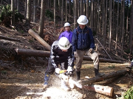 中学生の林業体験_e0002820_1793651.jpg