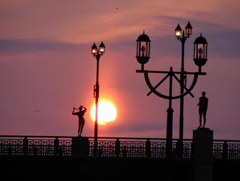 幣舞橋の夕陽    3月25日_f0113639_1211273.jpg