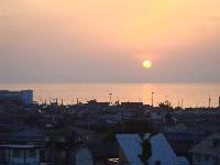 愛宕山からの夕陽_c0108460_20244620.jpg