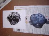 1年生 楽しい顔の紙版画2_c0052304_0144333.jpg