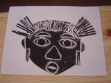 1年生 楽しい顔の紙版画2_c0052304_0181712.jpg
