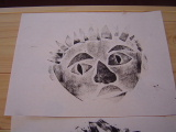 1年生 楽しい顔の紙版画2_c0052304_614318.jpg