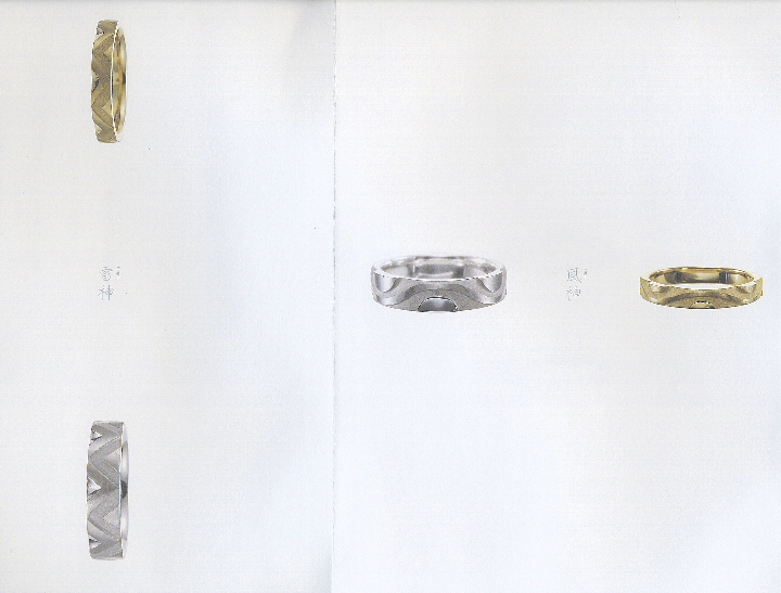 「雷神(らいじん)」と「風神(ふうじん)」の物語~日本の文化が指輪に~俄の結婚指輪のエピソード_f0118568_15563467.jpg