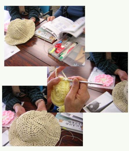 今日は編み物・水彩画教室でした(^_^)_c0113948_15412124.jpg