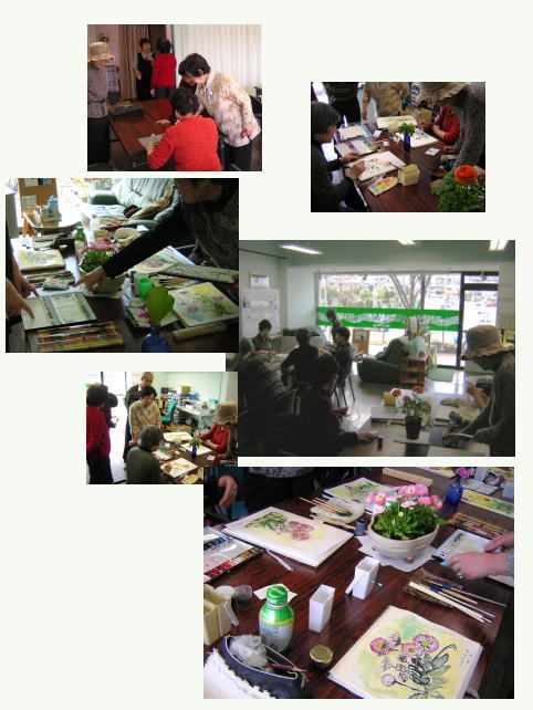 今日は編み物・水彩画教室でした(^_^)_c0113948_16123729.jpg