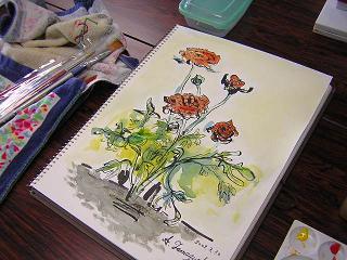 今日は編み物・水彩画教室でした(^_^)_c0113948_16131949.jpg