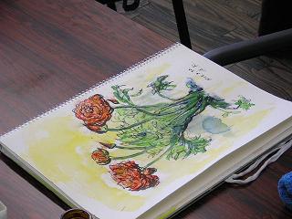 今日は編み物・水彩画教室でした(^_^)_c0113948_16132739.jpg