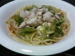 鶏ささみとレタスのスープスパゲティ_c0025217_15323743.jpg