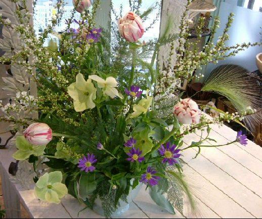 オークリーフ花の教室(そまきさん(上)と落合さん(下)の作品_f0049672_1616085.jpg