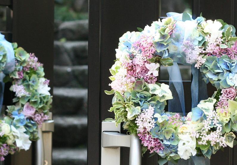 大山ハウス様の装花 さくらのころ ライラック_a0042928_23124146.jpg