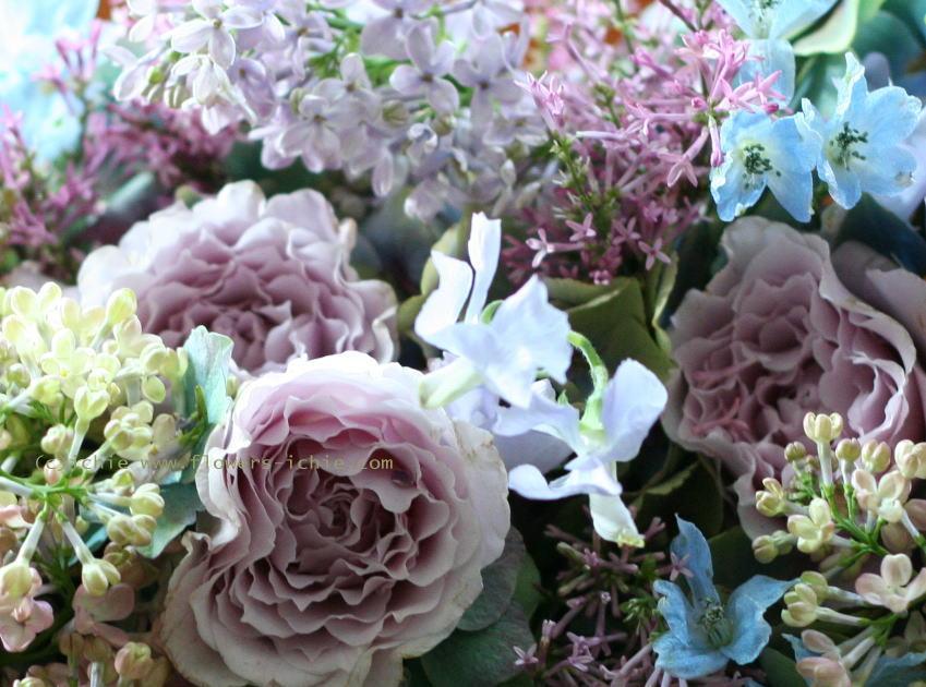 大山ハウス様の装花 さくらのころ ライラック_a0042928_2313277.jpg