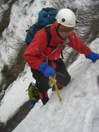 三鈷峰登頂と雪上訓練 参加4名。_d0007657_17573925.jpg