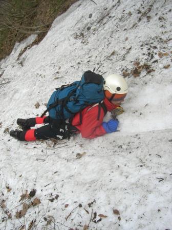 三鈷峰登頂と雪上訓練 参加4名。_d0007657_17583690.jpg