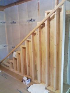 階段施工開始_d0099449_1103730.jpg