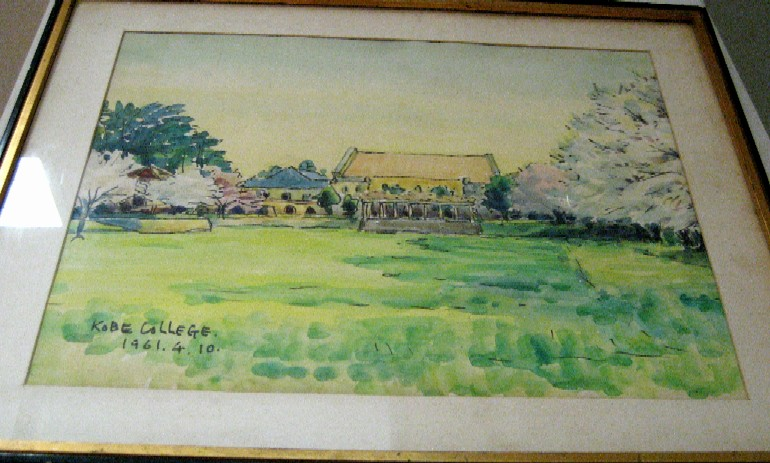 1961年4月10日     水彩画     於・神戸女学院         _c0009275_23301385.jpg