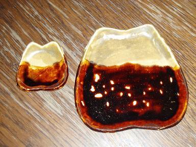 陶 芸 作 品(お造り皿と溜り入れ)_b0104092_18353067.jpg