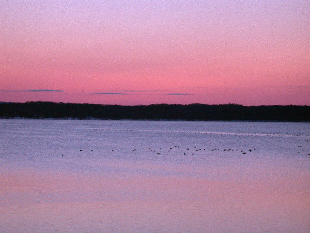 早春の北海道半周紀その3:浜頓別クッチャロ湖の夕焼け_e0100772_23505025.jpg